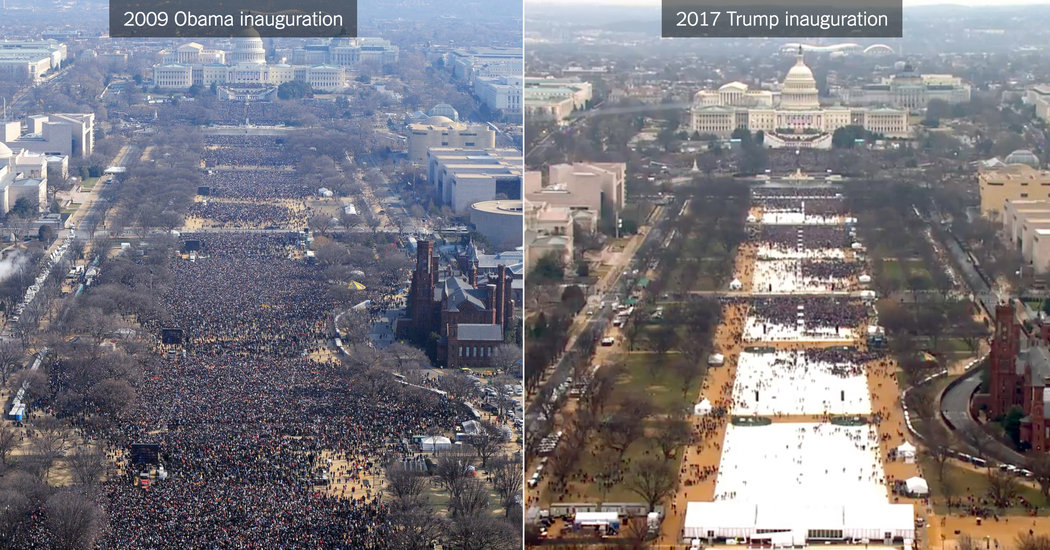 2009 vs 2017 inauguration crowds